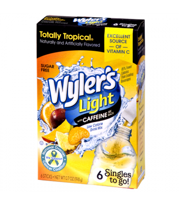 Wyler's Light with Caffeine Singles to go! - Totally Tropical - 0.7oz (19.8g) Drink Mixes