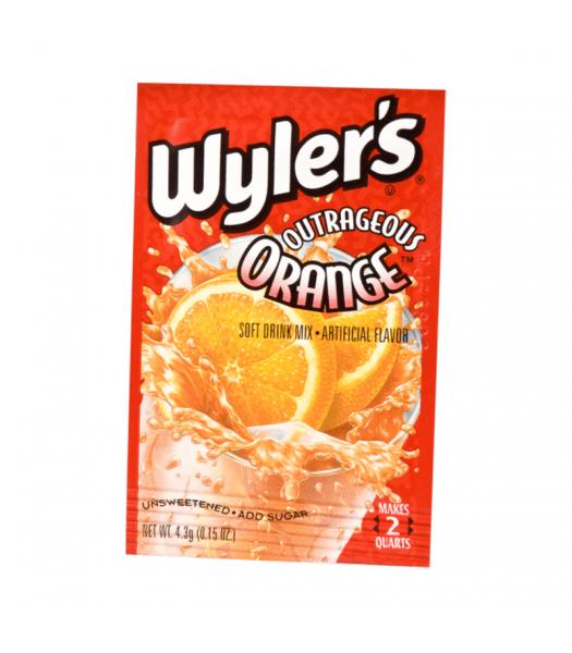 Wyler's 2QT Outrageous Orange Unsweetened Soft Drink Mix Sachet - 0.15oz (4.3g)