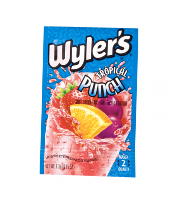 Wyler's 2QT Tropical Punch Unsweetened Soft Drink Mix Sachet - 0.15oz (4.3g)