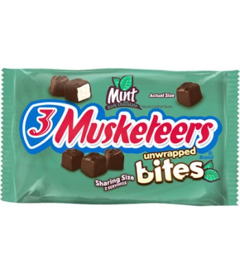 3 Musketeers Mint Unwrapped Bites Sharing Size 2.83oz (80.2g) Chocolate, Bars & Treats 3 Musketeers