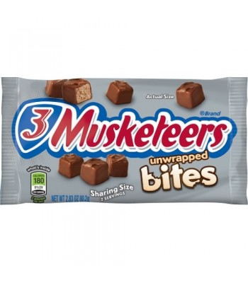 3 Musketeers Bites 2.83oz (80g) Chocolate, Bars & Treats 3 Musketeers