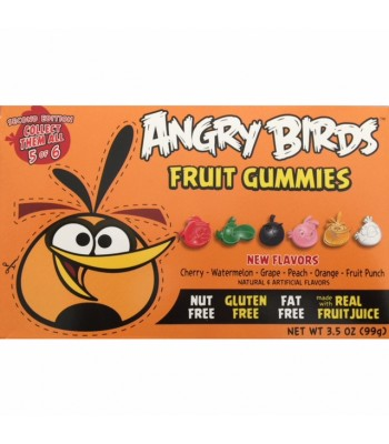 Angry Birds Fruit Gummies Second Edition - Orange Bird - 3.5oz (99g) Soft Candy Angry Birds