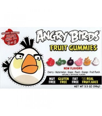 Angry Birds Fruit Gummies Second Edition - White Bird - 3.5oz (99g) Soft Candy Angry Birds