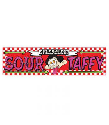 Abba-Zaba's Sour Taffy Strawberry Flavour 1.8oz (51g) Soft Candy