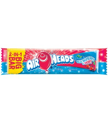 Airheads BIG BAR Blue Raspberry and Cherry 1.5oz (42.5g) Soft Candy AirHeads