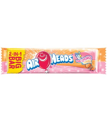 Airheads BIG BAR Pink Lemonade and Orange 1.5oz (42.5g) Soft Candy AirHeads