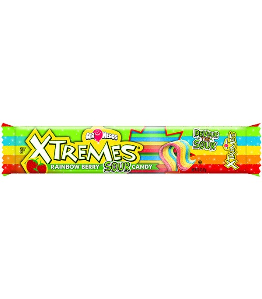 Airheads - Xtreme Rainbow Berry Sour Belts - 57g Soft Candy AirHeads