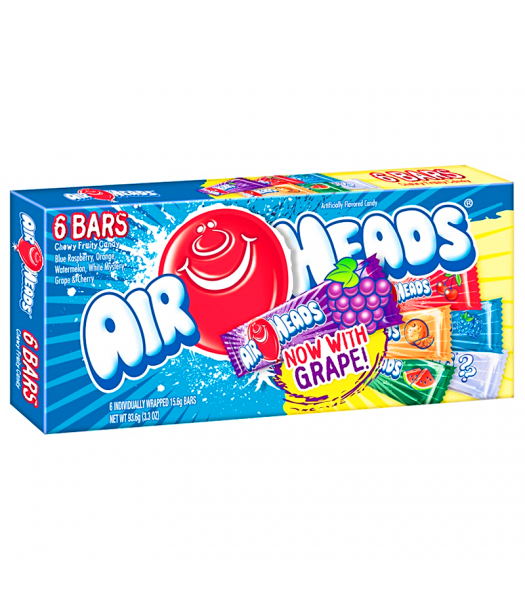 Airheads - 6 Bar Selection Box - 3.3oz (93.6g) Sweets and Candy Airheads
