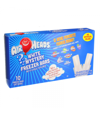 Airheads White Mystery Freezer Bars 1oz (28.3g) 10-Pack Freezer Bars Airheads