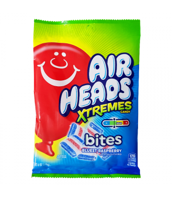 Airheads Xtremes Bites Bluest Raspberry - 6oz (170g) Sweets and Candy Airheads