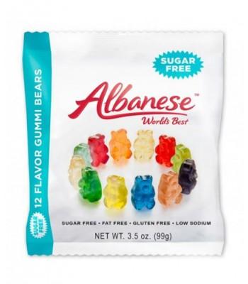 Albanese 12 Flavor Gummi Bears Sugar Free 3.5oz (99g) Soft Candy Albanese