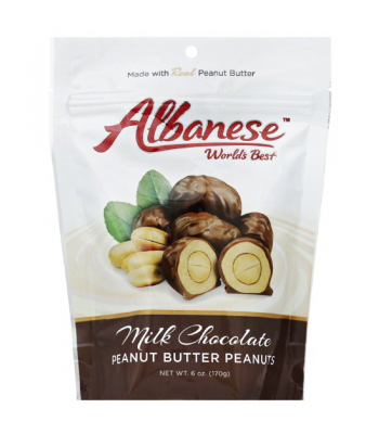 Albanese - Milk Chocolate Peanut Butter Peanuts - 6oz (170g)