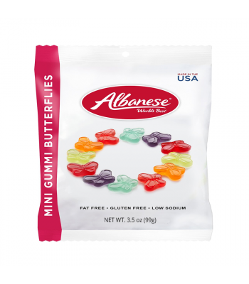 Albanese Mini Gummi Butterflies 3.5oz (100g) Soft Candy Albanese