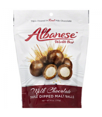 Albanese - Milk Chocolate Triple Dipped Malt Balls - 6oz (170g)