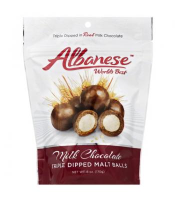 Albanese - Milk Chocolate Triple Dipped Malt Balls - 6oz (170g)