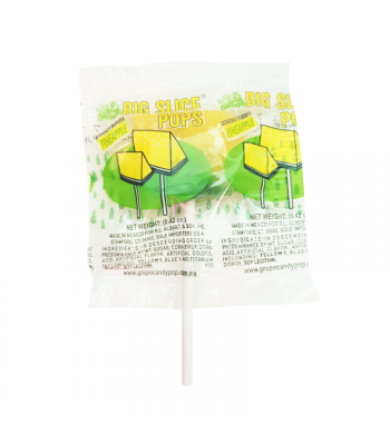 Albert's Big Slice Pops - Pineapple - 0.42oz (11.9g) Sweets and Candy