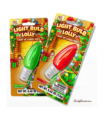 Albert's Christmas Light Bulb Lolly - 0.42oz (12g) Sweets and Candy