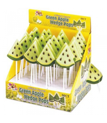 Albert's Green Apple Wedge Lollipop Lollipops