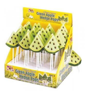 Albert's Green Apple Wedge Lollipop Lollipops