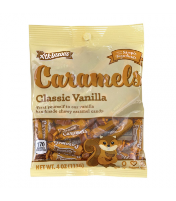 Atkinson's Fall Classic Vanilla Caramels Peg Bag - 4oz (113g) Sweets and Candy