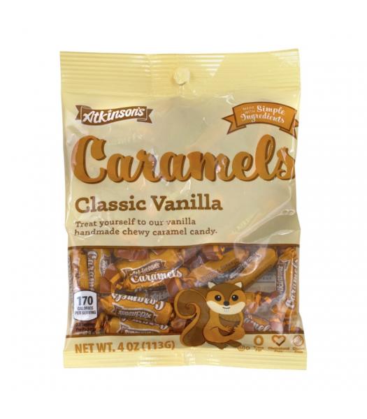 Atkinson's Fall Classic Vanilla Caramels Peg Bag - 4oz (113g) Sweets and Candy