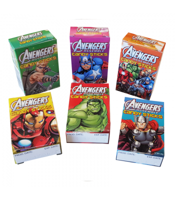 Avengers Assemble Candy Sticks (10g) Sweets and Candy