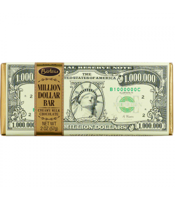 Bartons - Million Dollar Creamy Milk Chocolate Bar - 2oz (57g) Chocolate, Bars & Treats Bartons
