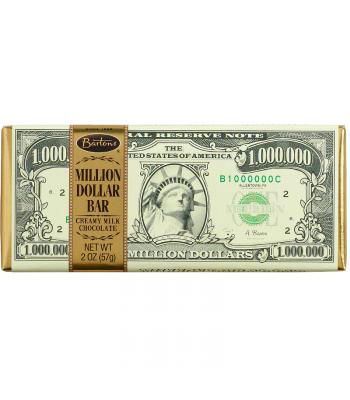 Bartons Million Dollar Milk Chocolate Bar 2oz (57g) Chocolate, Bars & Treats Bartons