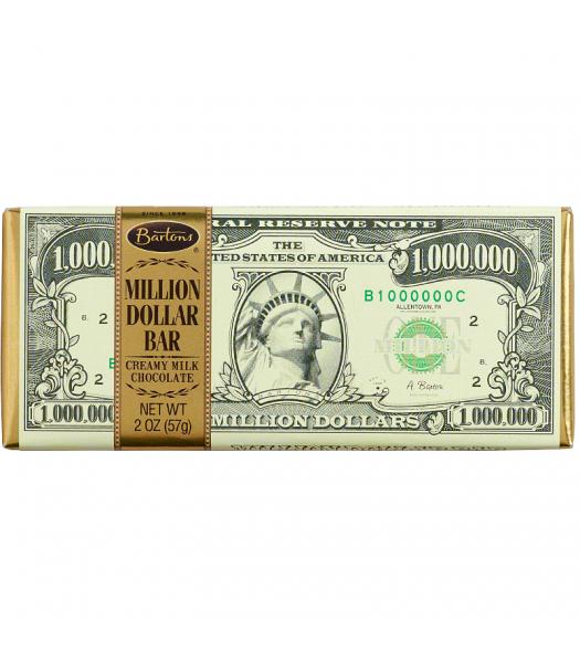 Bartons - Million Dollar Creamy Milk Chocolate Bar - 2oz (57g) Chocolate, Bars & Treats Bartons