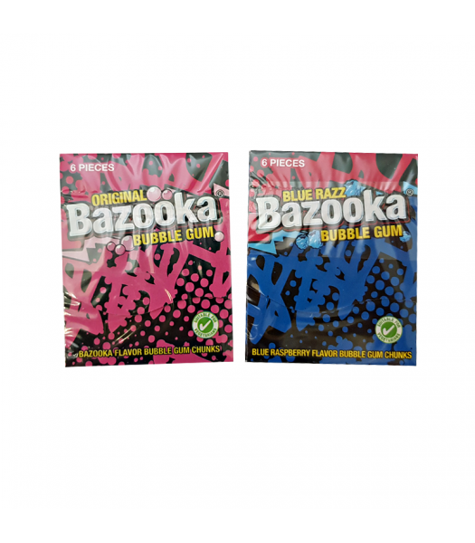 Bazooka Bubble Gum - 6-Piece Pack - (33g) Sweets and Candy Bazooka