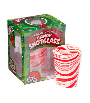 Peppermint Candy Shot Glass 1.76oz (50g) [Christmas] Sweets and Candy