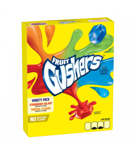 Betty Crocker Fruit Gushers Variety Pack - 4.8oz (136g) Sweets and Candy Betty Crocker