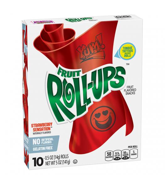 Betty Crocker Fruit Roll-ups Strawberry Sensation - 5oz (141g)