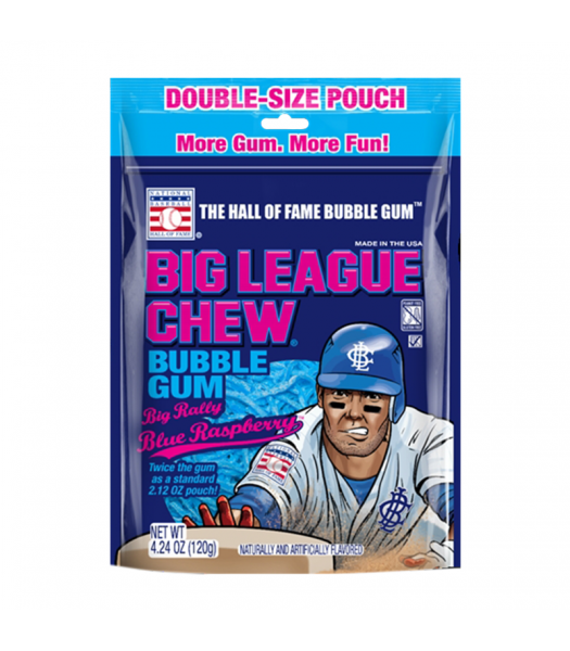 Big League Chew Blue Raspberry - 4.24oz (120g) Sweets and Candy Big League Chew