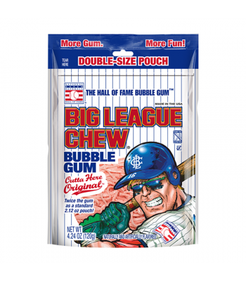 Big League Chew Original Gum - 4.24oz (120g) Sweets and Candy Big League Chew