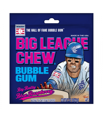 Big League Chew Blue Raspberry 2.12oz (60g) Sweets and Candy Big League Chew