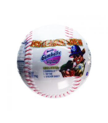 Big League Chew Bubblegum Baseball 0.63oz (18g) Bubble Gum Big League Chew