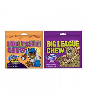Halloween Big League Chew - 2.12oz (60g) Sweets and Candy Big League Chew