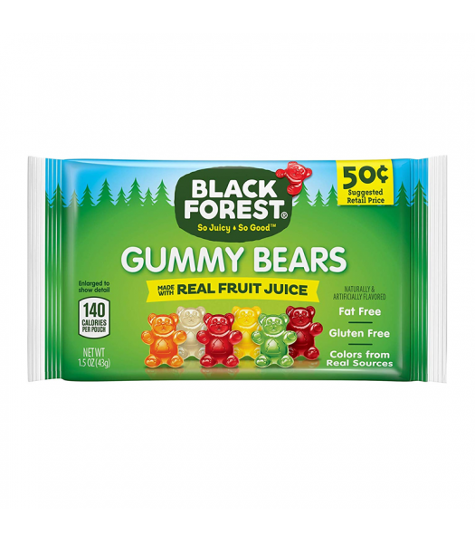 Black Forest Gummy Bears - 1.5oz (43g) Sweets and Candy