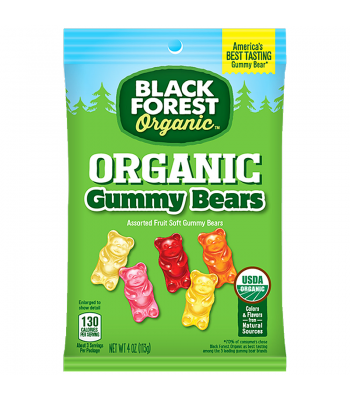 Black Forest Organic Gummy Bears 4oz (113g) Soft Candy