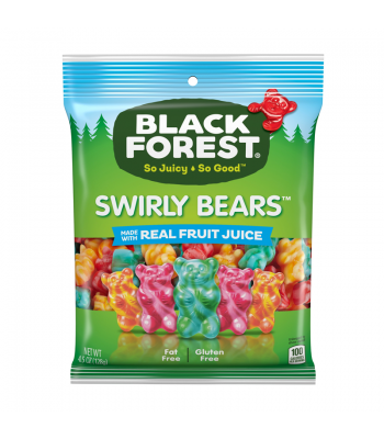 Black Forest Swirly Gummi Bears - 4.5oz (128g) Sweets and Candy