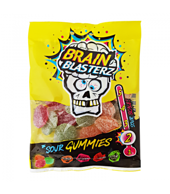 Brain Blasterz - Sour Gummies - 100g Sweets and Candy Brain Blasterz