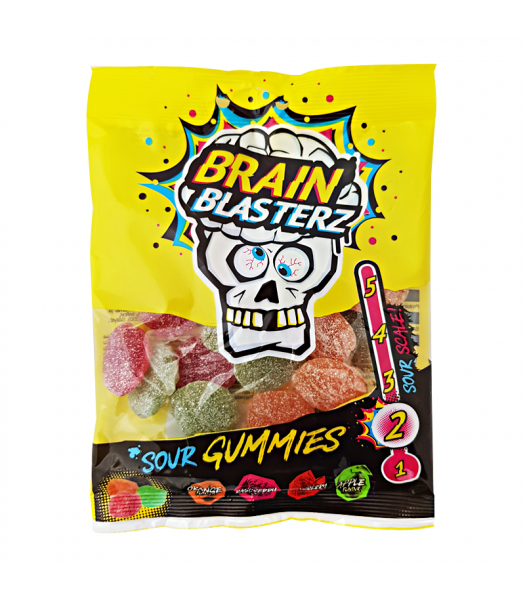 Brain Blasterz - Sour Gummies - 100g Sweets and Candy Brain Blasterz