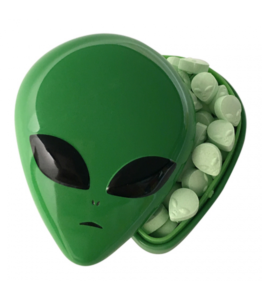 Alien Head Sour Candy Tin 1oz (28g) Sweets and Candy Boston America
