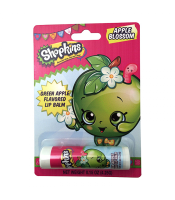 Shopkins Apple Blossom Lip Balm 0.15oz (4.25g) Novelty Candy Boston America