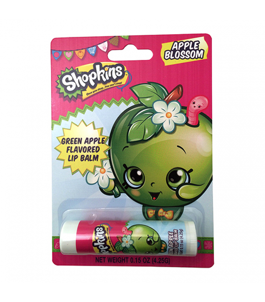 Shopkins Apple Blossom Lip Balm 0.15oz (4.25g) Novelty Candy Boston America