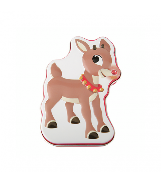 Ruldoph Reindeer Nose Cherry Candies Tin Sweets and Candy Boston America