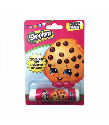 Shopkins Kooky Cookie Lip Balm - 0.15oz (4.25g) Novelty Candy Boston America