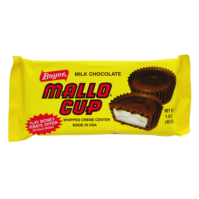 Boyer Milk Chocolate Mallo Cup 1 5oz 42g American Fizz