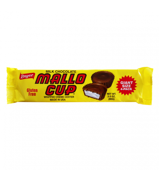 Boyer Milk Chocolate Mallo Cup King Size 3oz (85g) Sweets and Candy
